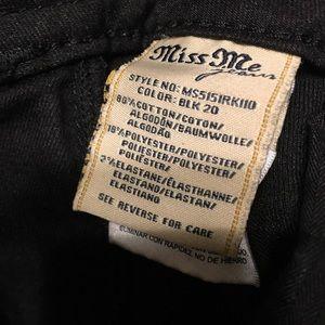 Miss Me Jeans - Miss Me Waxed Black Capris